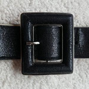 Steven by Steve Madden black leather belt